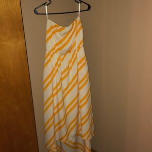 Yellow and cream maxi dress